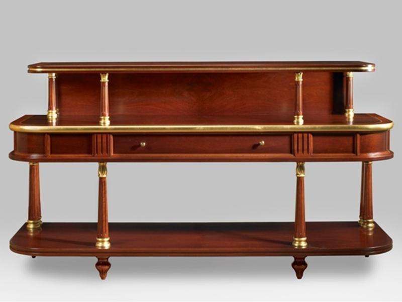 Mueble curvado detalles bronce clasico atril decoracion atrildeco - Atril decoracion ...